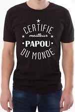 T-shirt homme mignon. Certifié meilleur papou du monde.