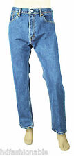 NEW MENS LEVIS LEVI STRAUSS 505 REGULAR FIT BLUE LIGHT WASH JEANS