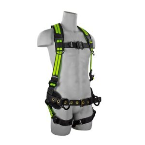 PRO+ Flex Premium Construction Harness with Quick Connect Chest Buckle, Padded