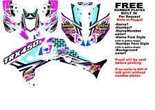 TRX450R LOGO NINETYSIX GRAPHIC KIT BK/EL SIDES/FENDERS 08-NEW HONDA 450 TRX450