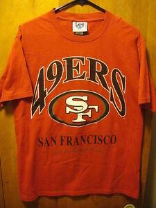 SAN FRANCISCO 49ers ~ MED ~ Vintage 1995 ~ LEE Sport Nutmeg NFL T Shirt USA Made