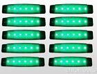 10 x 12v 12 VOLTIOS SMD 6 Led Verde Luz de Marcador Lateral Remolque Furgoneta