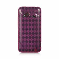 For HTC Droid Incredible (LTE version) Hot Pink Checker Skin Case Cover
