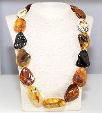 Unique Massive Genuine Baltic Amber Adult Necklace 62.5 cm Luxury Bernsteinkette
