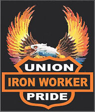 hard hat stickers, hardhat stickers union ironworker CIW-7