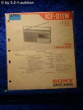 Sony service manual ICF d11w (#2711)