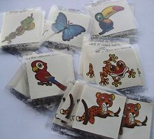 RAIN FOREST TATTOOS   LOT 0F 144 CARNIVALS, PARTIES TOYS FAVORS
