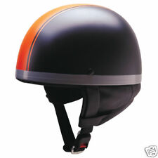 DOT Half Face Fiberglass helmet(380-Matt Orange Strip)