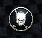 Premium Skull & Golf Club Golf Ball Marker + BONUS!