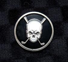 Premium Skull & Golf Club Golf Ball Marker + BONUS!