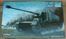TRUMPETER 1/35 MODEL KIT 00350~STURER EMIL German 12.8cm SELBSTFAHRLAFETTE L/61