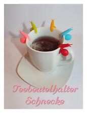 10 Teeschnecken /Teebeutelhalter /Halter für Teebeutel /Tee Ei / Silikon