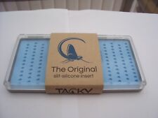 Tacky Fly Box Tough Sleek Polycarbonate Clear Holds 168 Flies, Silicone Inserts