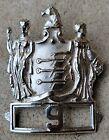 Antique Vtg Hat Badge Shield Fraternal Fire Police Heraldic OBSOLETE Braxmar