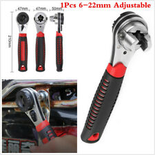 Universal Portable 6-22mm Adjustable Ratchet Wrench Car Repair Spanner Hand Tool