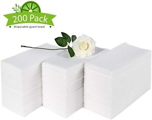 Disposable Hand Guest Towels Soft & Absorbent Linen-Feel Decorative Cloth-Like