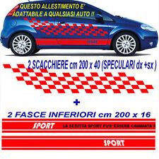 MAXI SCACCHIERA + FASCIA ADESIVA TUNING X AUTO SPORTIVE