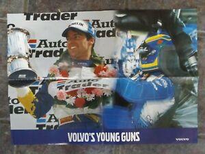 "24"" x 16"" 1996 BTCC VOLVO 850 POSTER HAND SIGNED BY KELVIN BURT"