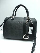 GUESS Women's Handbag*Swim* Coal w/G Logo Print Satchel Shoulder Purse Tote New