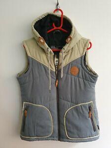 Wsstbeach Mens Medium Original Gilet Hooded Vest Insulated Blue Cream