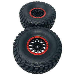 Traxxas UDR Black & Red Wheels and Tyres x2 (Assembled) BFGoodrich 8474 New