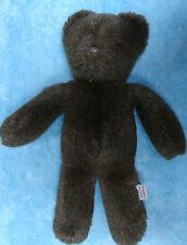 "CHARM CO Plush Dark Brown Teddy Bear Vintage 1982  Stuffed Animal Soft Toy 15"""