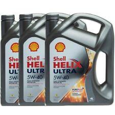 OLIO MOTORE AUTO Shell Helix Ultra 5W40 100% Sintetico 12L litri Nuova Formula