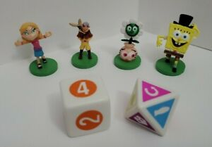 NICKELODEON Scene It? - Tokens & Dice ONLY- Replacement Parts/Pieces