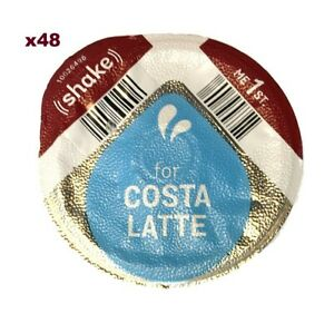 48x TASSIMO COSTA LATTE 325ml MILK CREAMER ONLY T-DISCS PODS LARGE CUP SIZE