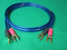 Samurai  TRUE 12 Gauge Wire Speaker Cable 2 Spades to 2 Spades , 10 Ft.
