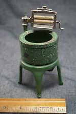 Arcade TOY Thor WRINGER WASHING MACHINE Dollhouse - Cast Iron-Green Agate Paint