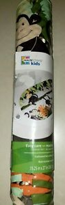 MAINSTAY KIDS PADDED BATH MAT monkeys jungle theme machine washable CUTE NEW NWT