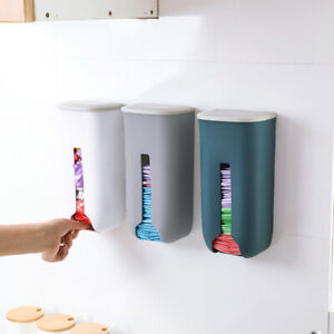 Plastic Kitchen Grocery Plastic Bag Holder Dispenser Saver Wall Mount Organizer