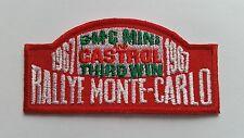 MOTOR RACING CAR SPEED FESTIVAL SEW ON / IRON ON PATCH:- MINI RALLYE MONTE CARLO