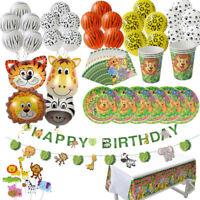 Jungle Safari Animal Birthday Wild Party Supplies Tableware Balloon Decoration