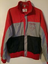 Vintage Descente Men's Ski Jacket Red/Gray/Navy Size Small