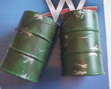 2x CHEMICAL WASTE BINS ACCESSORY WWE WRESTLING FIGURE  MATTEL OR JAKKS