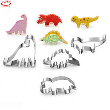 4pcs Stainless Steel Dinosaur Shape Pastry Cookie Biscuit Cutter Cake Decor Mold