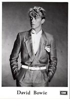 DAVID BOWIE PHOTO PROMO 13cm X 18cm EMI ARCHIVES RARE