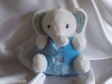 Doudou éléphant bleu, blanc, Boulgom