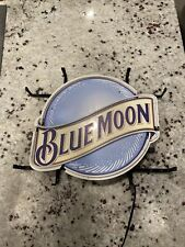 "New Blue Moon Beer Neon Light Sign 17""x14"" Man Cave Lamp Artwork Glass Board Bar"