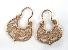 Stamp 4,65g Soviet Russia Ussr Vintage Earrings Gold 14K 583 Star