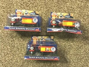Thomas & Friends Wooden Railway Lot of 3 James Roaring Delivery Train Engines