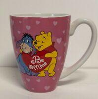Disney Store Be Mine Eeyore Winnie The Pooh Pink Heart Ceramic Coffee Tea Mug