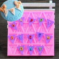 Silicone 3D Alphabet Letter Trays Chocolate Mold Cake Fondant Decorating Tools