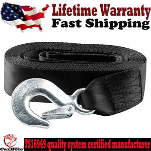 """NEW DELUXE BOAT TRAILER REPLACEMENT WINCH STRAP 2"""" x20' WITH SNAP HOOK QUICK US"""
