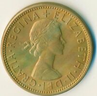 1966 FLORIN TWO SHILLINGS QUEEN ELIZABETH II. UNC WITH TONING  #WT11151