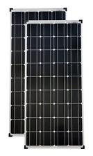 2 Stück 100 Watt mono Solarpanel Solarmodul Solarzelle Photovoltaik TÜV Zert.
