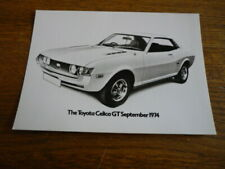 TOYOTA CELICA GT 1974 ORIGINAL PRESS PHOTO