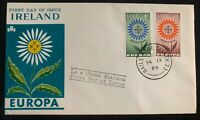 1964 Dublin Ireland First Day Cover FDC Europa Issue